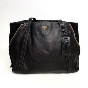 Fossil Black Gwen Shopper
